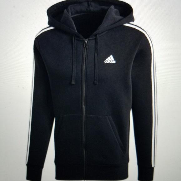 adidas Essential 3 Stripes Full Zip men's jacket (grey)